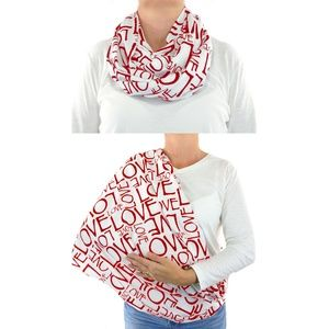 Red White Love Breastfeeding Privacy Cover Scarf